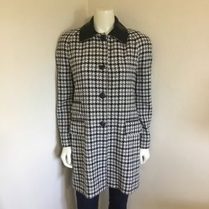 Vintage 80s Neiman Marcus Black White Car Coat 4 S